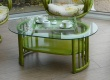 table en rotin - contemporaine - ovale - pour veranda - Cannes